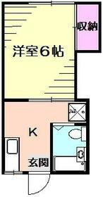末広荘・2号室の間取り