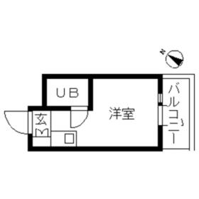 TOP・自由ケ丘第3・0303号室の間取り