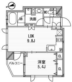 クリオ渋谷ラ・モード・510号室の間取り