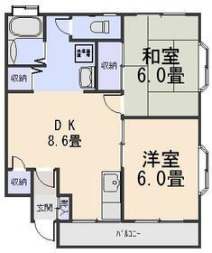 ガーデンハウス山勝・512号室の間取り