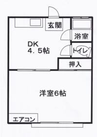 弥生荘・105号室の間取り