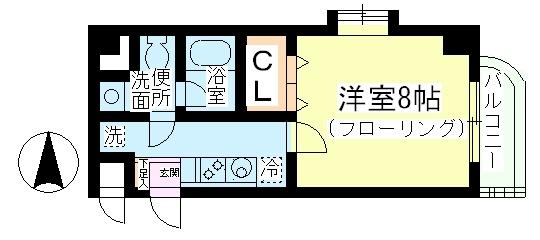 カラコレス篠崎・307号室の間取り