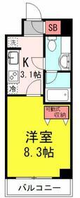 桜・タニエール・309号室の間取り
