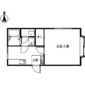 メゾン桃山・2-D号室の間取り