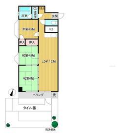 乙舳スカイマンション・107号室の間取り
