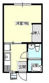 新栄荘・7号室の間取り