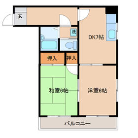 アキヨマンション・305号室の間取り