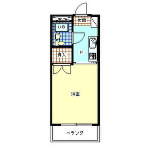 ラフィーネ昭島・203号室の間取り
