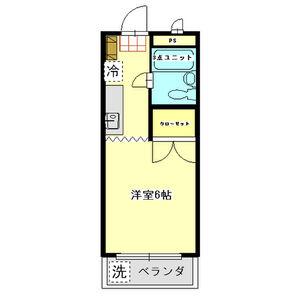ジュネス田野倉・106号室の間取り