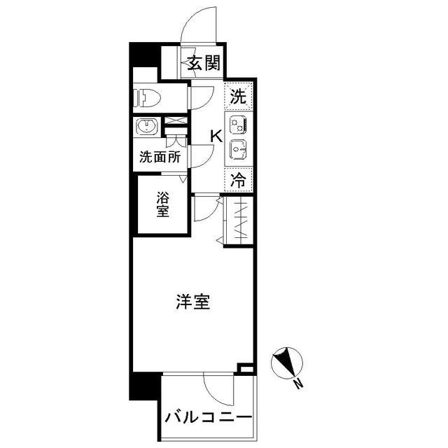 N-stage AkabaneShimo・318号室の間取り