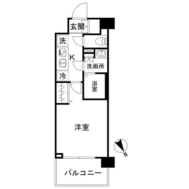 N-stage AkabaneShimo・413号室の間取り