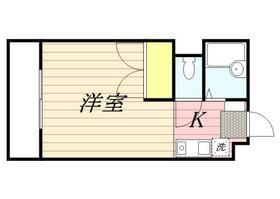 リバーサイド西新宿・0201号室の間取り