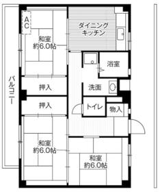 ビレッジハウス菅田4号棟・0509号室の間取り