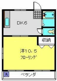 大倉山フラワーハイツ・101号室の間取り