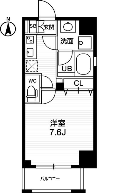 AVANTI johoku・301号室の間取り