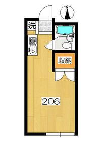 アーバンハウス生田1号館・206号室の間取り