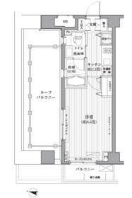 メゾンカルム西新宿・506号室の間取り