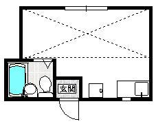 コーポラスYOU・203号室の間取り