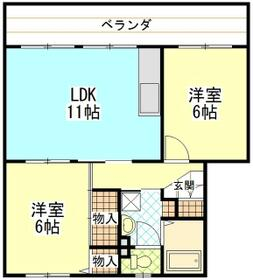 町田コープタウン20号棟・405号室の間取り