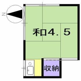 幸福荘・4号室の間取り