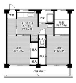 ビレッジハウス富木島3号棟・0401号室の間取り