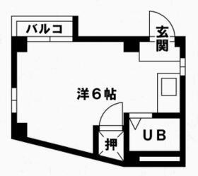スカイコーポ百道B・203号室の間取り