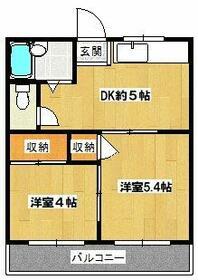 ファミリー永山・203号室の間取り