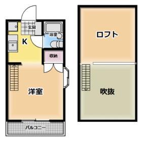 京都ハウジングコーポ善通寺・503号室の間取り