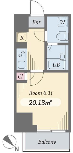 ダイヤモンドタワー西小山・0201号室の間取り
