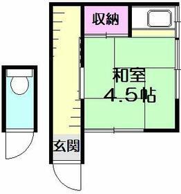 石井アパート1号棟・5号室の間取り