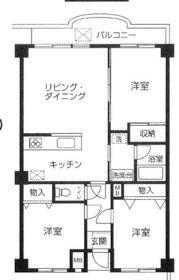 サンシャインK&Kマンション・102号室の間取り