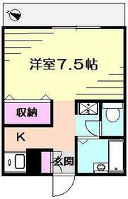 K's横浜・203号室の間取り