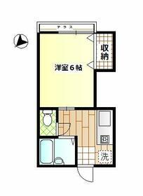 堀越アパート・201号室の間取り