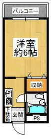 リバーサイド橋本・206号室の間取り