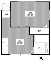 リボンハウス・202号室の間取り
