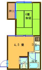 齊藤アパート・202号室の間取り