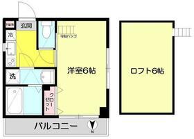 メゾンフラワー富士見ヶ丘II・502号室の間取り