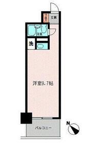 コモド横浜サウス・0310号室の間取り