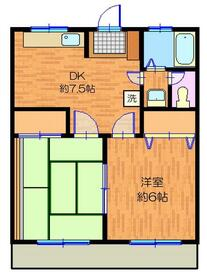 かみやマンション・105号室の間取り