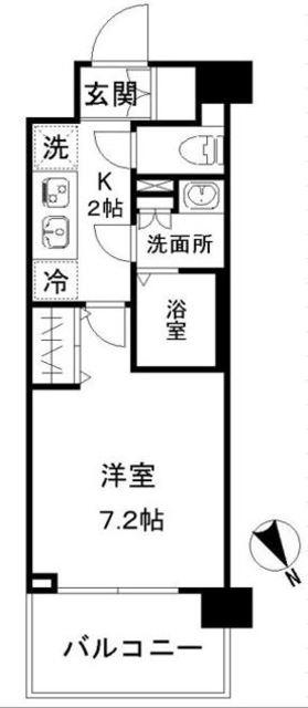 N-stage AkabaneShimo・517号室の間取り