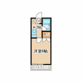 コーポ菅生台第2・202号室の間取り