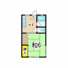 コ-ポクボタ・201号室の間取り