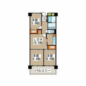 メゾン・ド・ベル青葉台Ⅱ・504号室の間取り