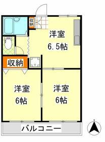 パークサイドマンション・305号室の間取り