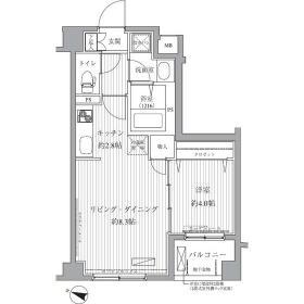 サニーリヴ北新横浜・103号室の間取り