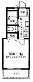 エクセレント桜泉二号館・101号室の間取り