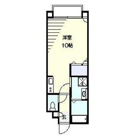 サンライク和田町・102号室の間取り