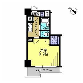 エスティメゾン川崎Ⅱ・0704号室の間取り