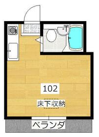 エステー生田1・102号室の間取り