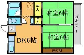 藤コーポ・A204号室の間取り